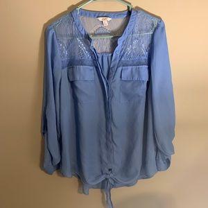 Lace top blouse